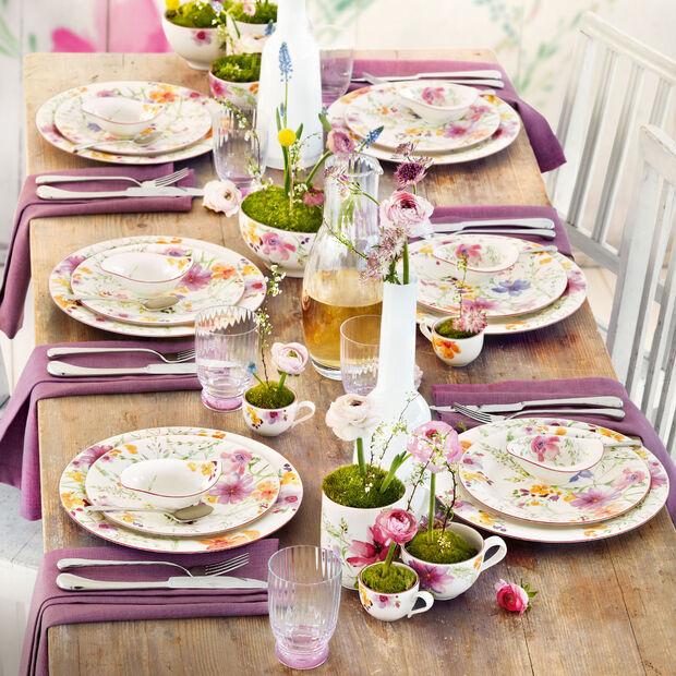 20 cm pour ML Blanc Rose Or Céramique Forman Petit déjeuner Assiette Confetti pointillés D