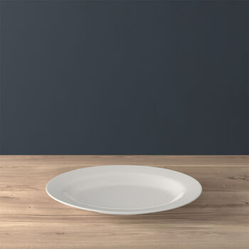 Twist White Plat ovale 34cm