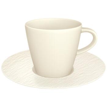 Manufacture Rock Blanc tasse à café avec sous-tasse, blanche, 2pièces
