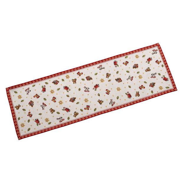 Toy's Delight chemin de table GobelinL, rouge/multicolore, 32x96cm, , large