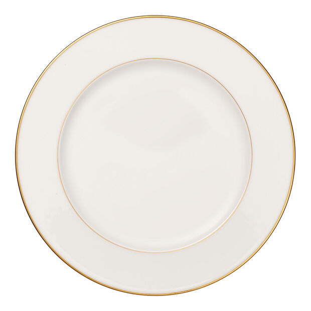 Anmut Gold plat rond, diamètre 32cm, blanc/or, , large