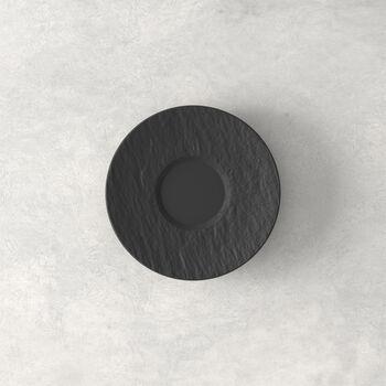 Manufacture Rock sous-tasse à expresso, noire/grise, 12x12x2cm