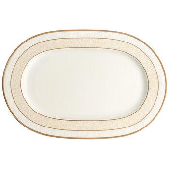 Ivoire Plat ovale  35cm