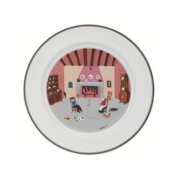 Design Naif assiette plate motif cheminée