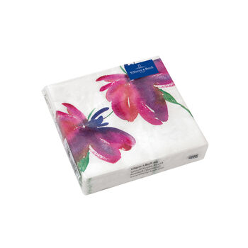 Serviettes en papier Artesano Flower Art Cocktail, 20pièces, 25x25cm