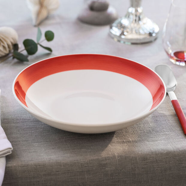 Colourful Life Deep Red coupe plate, , large