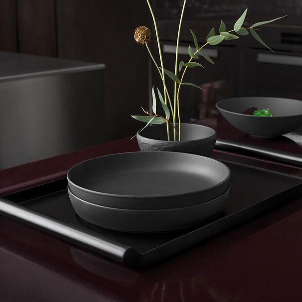 Iconic coupe plate, noire, 24x4cm, 1,1l, , large