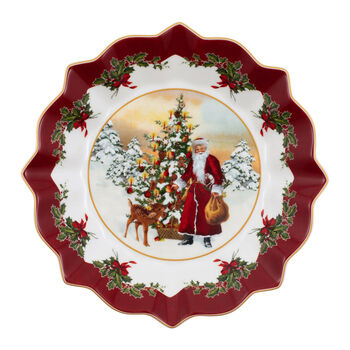 Toy's Fantasy grande coupe Père Noël et sapin, multicolore/rouge/blanc, 25x25x4cm