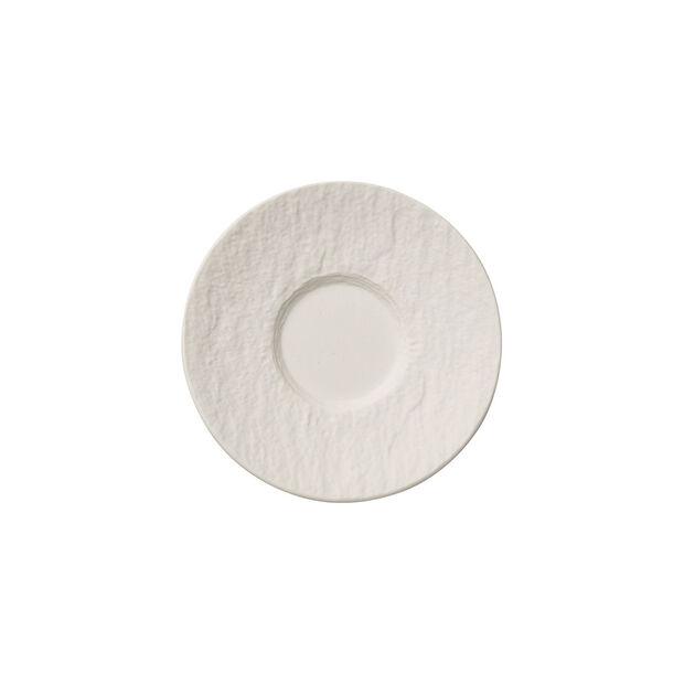 Manufacture Rock Blanc sous-tasse à moka/expresso, 12cm, , large