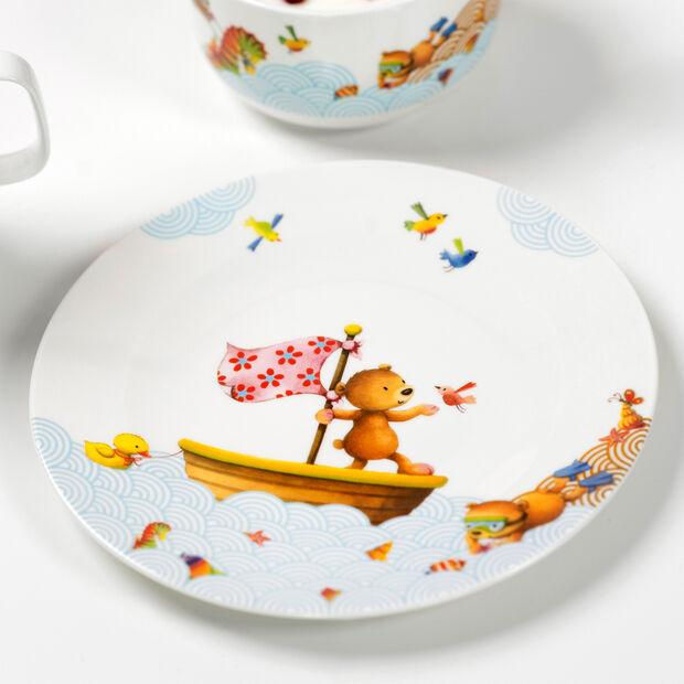 Happy as a Bear Assiette plate pour enfants 21,5x21,5x1,5cm, , large