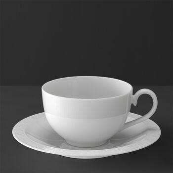 White Pearl Tasse petit-déjeuner avec soucoupe 2pcs