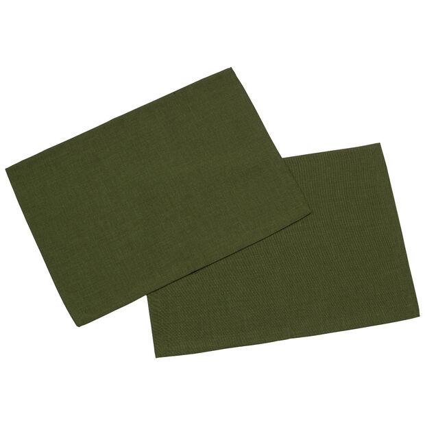 Textil Uni TREND Set d/table verde fon.S2 35x50cm, , large