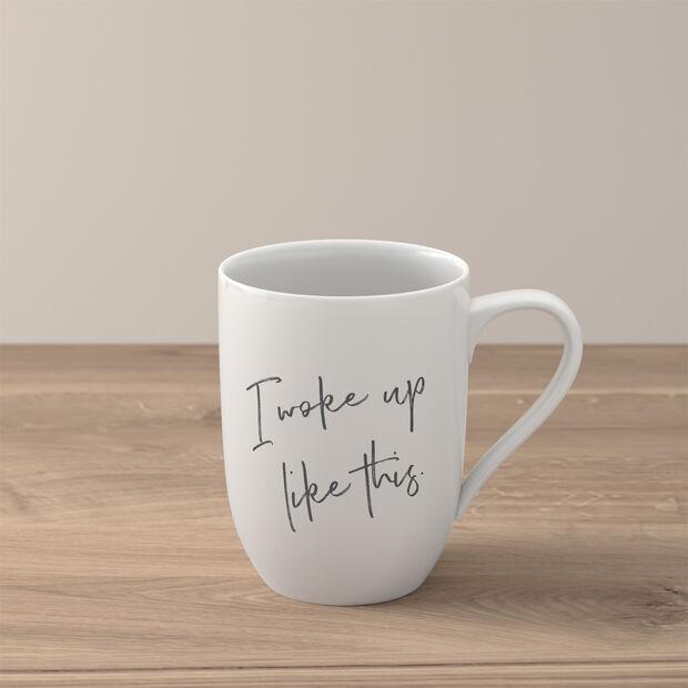 Statement mug «I woke up like this», , large