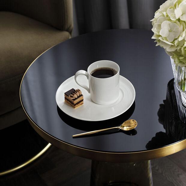 MetroChic blanc Soucoupe tasse à café/thé, , large