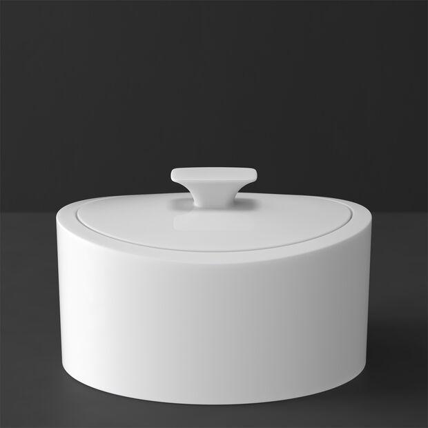 MetroChic blanc Gifts Boîte en porcelaine 16x13x10cm, , large