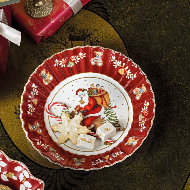 Toy's Fantasy grande coupe Père Noël sur le toit, rouge/multicolore, 25x25x5cm, , large