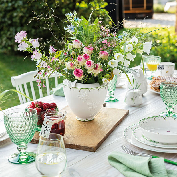Colourful Spring vase large, blanc/vert, , large