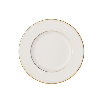 Anmut Gold assiette à pain, diamètre 16cm, blanc/or