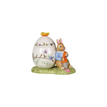 Bunny Tales boîte en forme d'œuf de Pâques Max avec carotte, 11x6,5x9,5cm, multicolore