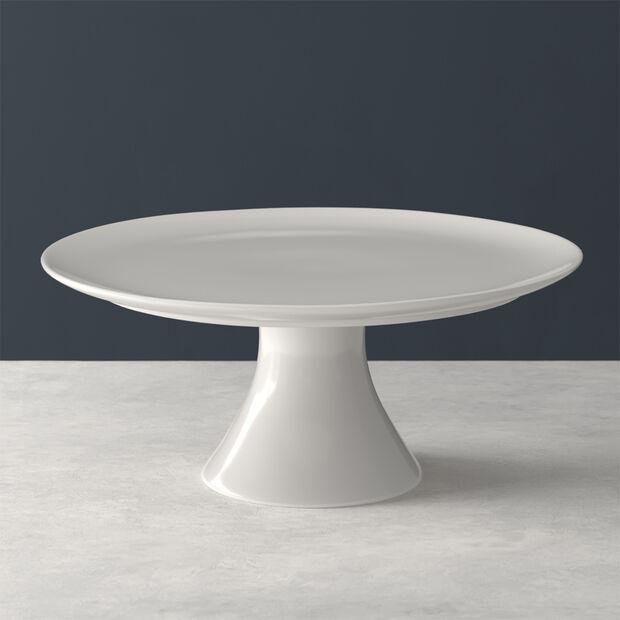 For Me plat à gâteau sur pied, blanc, 30x30x13cm, , large