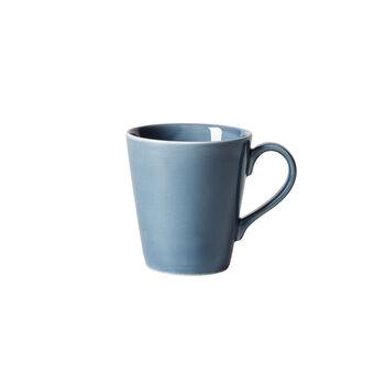 Organic Turquoise mug à anse, turquoise, 350ml