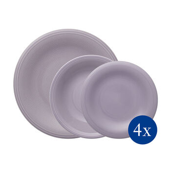 Color Loop Blue ensemble de vaisselle de base, bleu, 12pièces