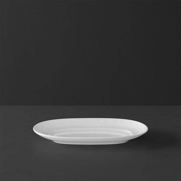 White Pearl Ravier/Plat à saucière 22cm, , large