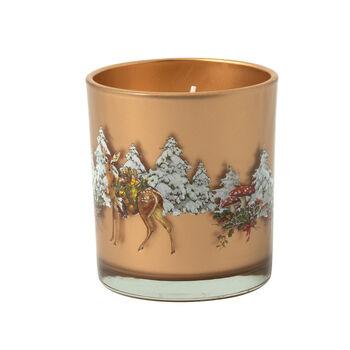 Winter Specials Bougie votive Cerfs dans la forêt 7,5x9,5cm