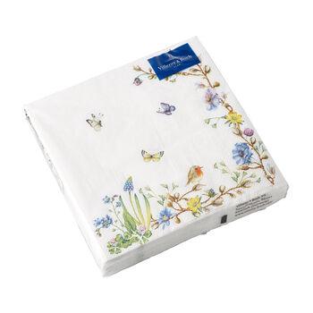 Easter Accessories serviettes de table, arabesque de fleurs, 33x33cm, 20pièces