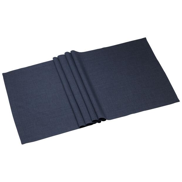 Textil Uni TREND Chemin de table vintage blue 50x140cm, , large