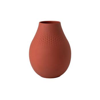 Manufacture Collier terre Vase Perle haut 16x16x20cm