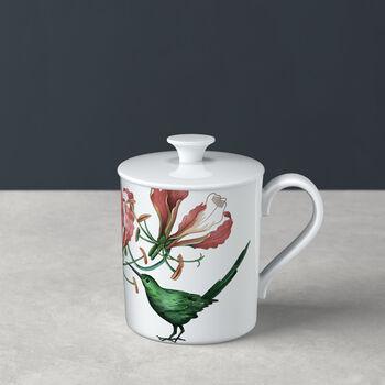 Avarua Gifts mug avec couvercle, 300ml, blanc/multicolore