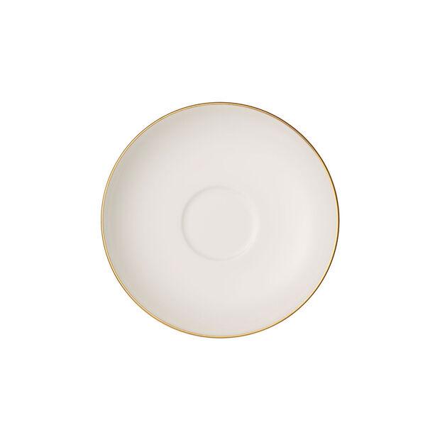 Anmut Gold sous-tasse à moka et expresso, diamètre 12cm, blanc/or, , large