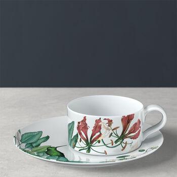 Avarua tasse à thé avec sous-tasse, 230ml, blanche/multicolore