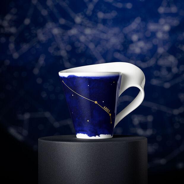 NewWave Stars mug bélier, 300ml, bleu/blanc, , large
