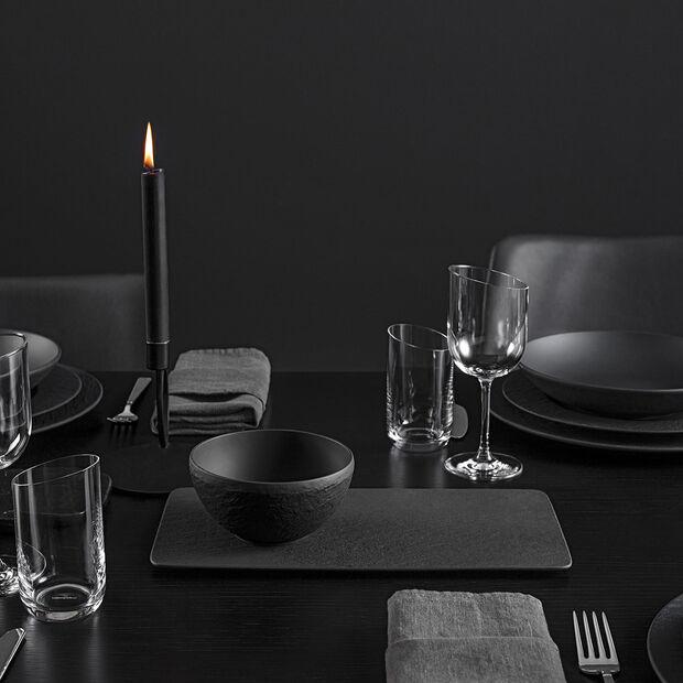 Manufacture Rock plat à servir rectangulaire, noir/gris, 35x18x1cm, , large