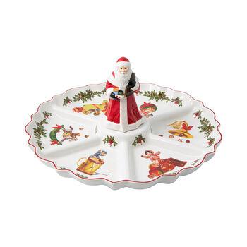 Toy's Fantasy plat à compartiments rétro, multicolore/rouge/blanc, 38x38x19cm