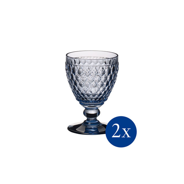 Boston coloured Verre à vin blanc blue Set 2 pcs, , large