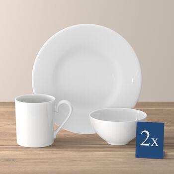 Royal ensemble pour le petit-déjeuner pour deux personnes 6pièces