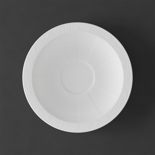 White Pearl Soucoupe tasse petit-déjeuner/bouillon 18cm, , large