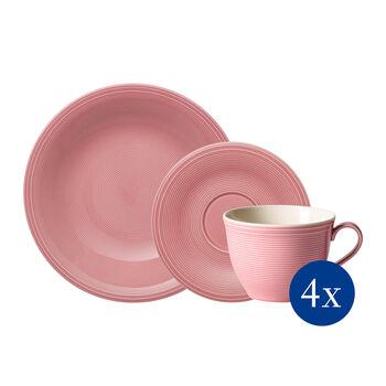 Color Loop Rose ensemble à café, rose, 12pièces