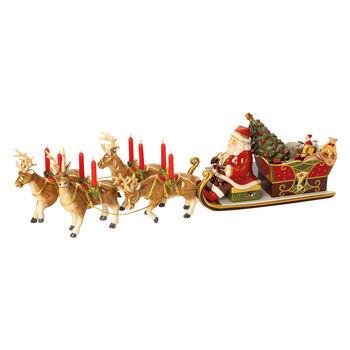 Christmas Toys Memory Santa's Promenade en traîneau 22x70x16cm