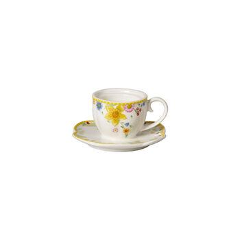 Spring Awakening support pour bougie chauffe-plat, tasse, jaune/multicolore