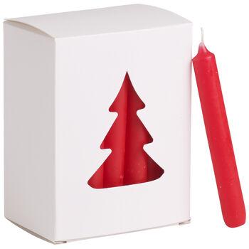 Essentials Bougies Bougie noel rouge Set 24 8x10,5x5,5cm