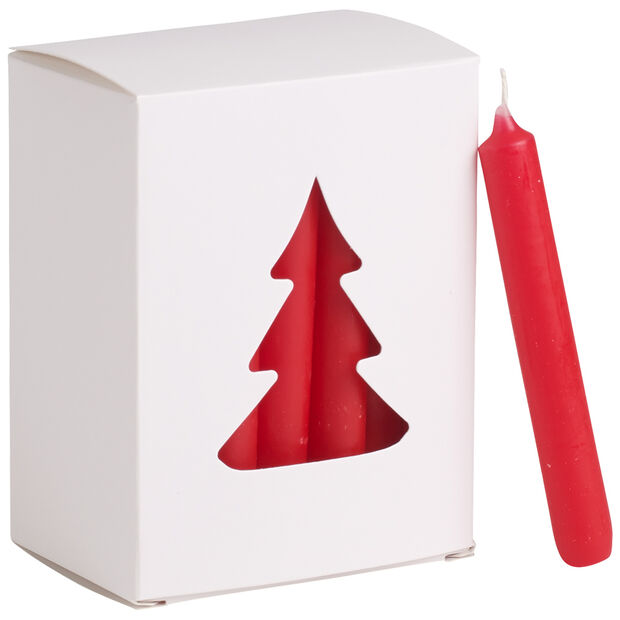 Essentials Bougies Bougie noel rouge Set 24 8x10,5x5,5cm, , large