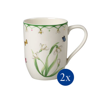 Colourful Spring mug, 340ml, 2pièces