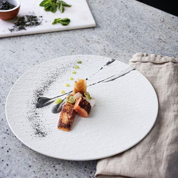 Manufacture Rock blanc Assiette gourmet 31,5x31,5x2,5cm, , large