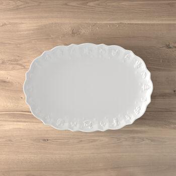 Toy's Delight Royal Classic plat ovale, blanc, 42x29x4cm