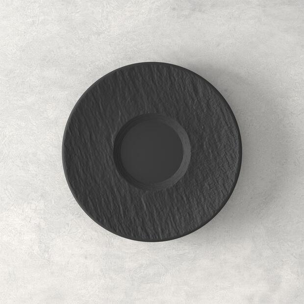 Manufacture Rock sous-tasse, noire/grise, 15,5x15,5x2cm, , large