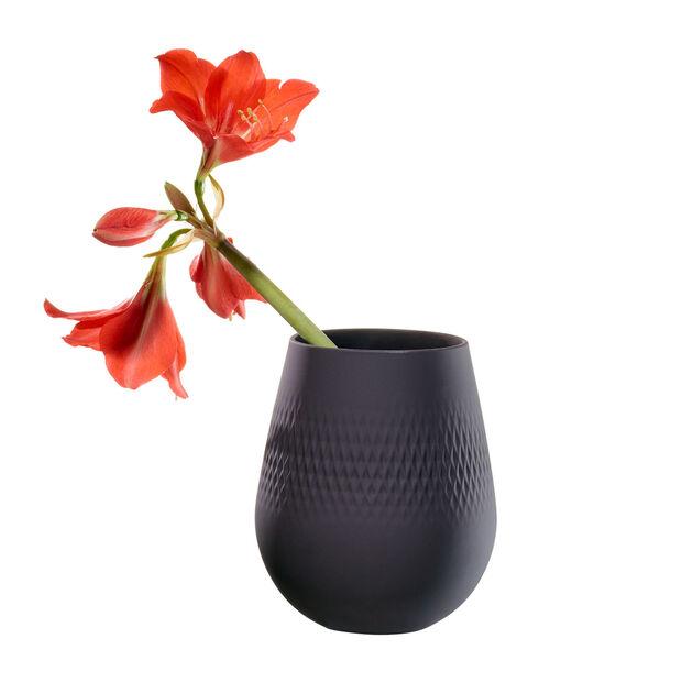 Manufacture Collier noir Vase Carré petit 12,5x12,5x14cm, , large